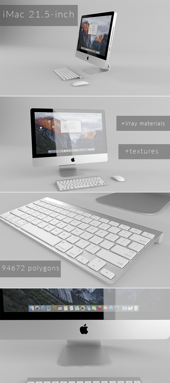 iMac 21.5-inch - 3DOcean Item for Sale
