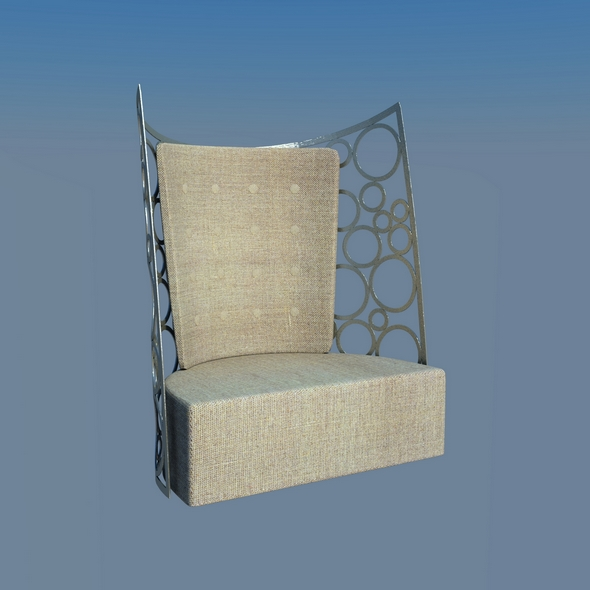 Armchair modern - 3DOcean Item for Sale