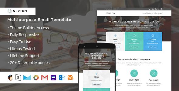 Neptun – Responsive Email + StampReady Builder