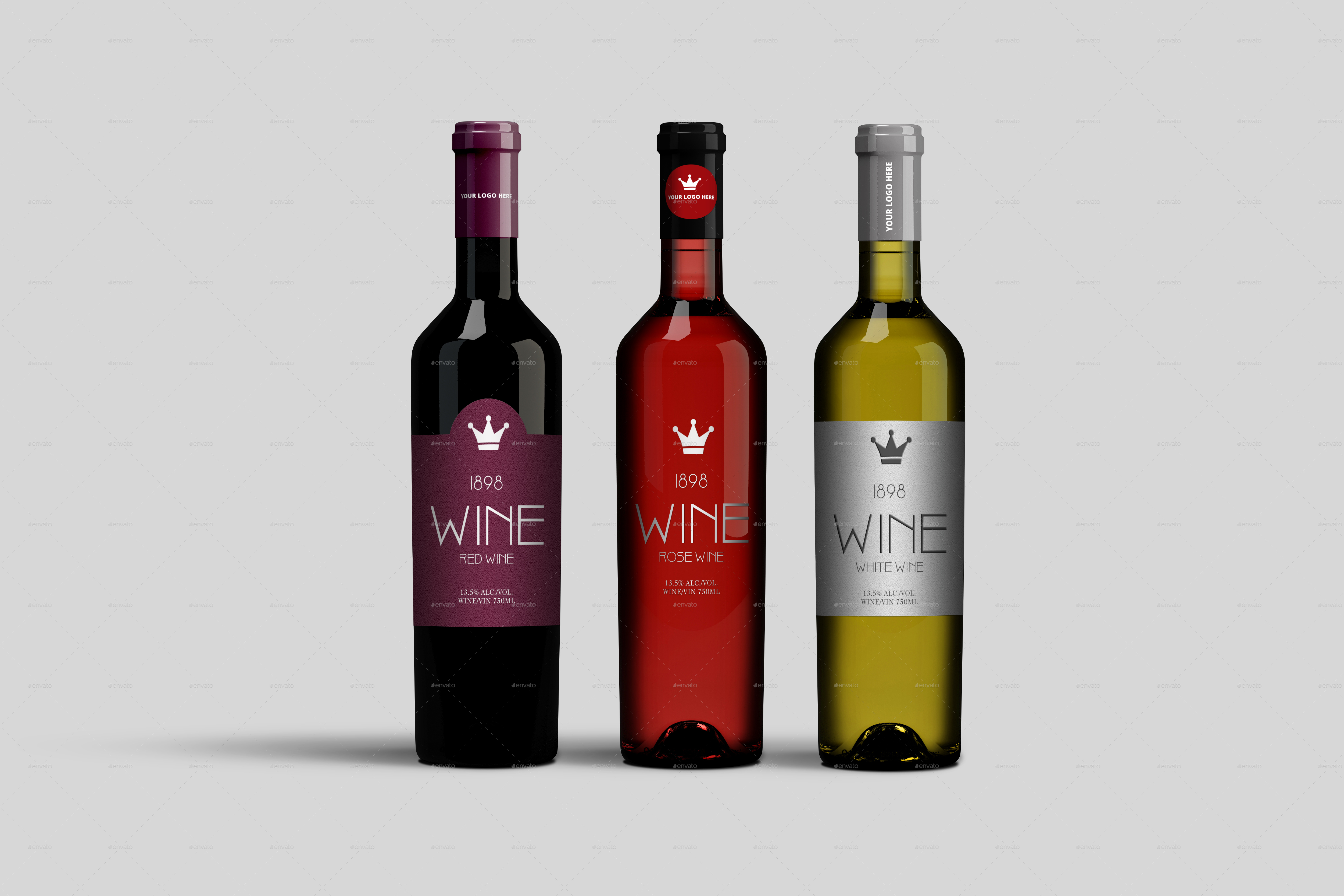 wine bottle mockup by masterpixdesign | graphicriver