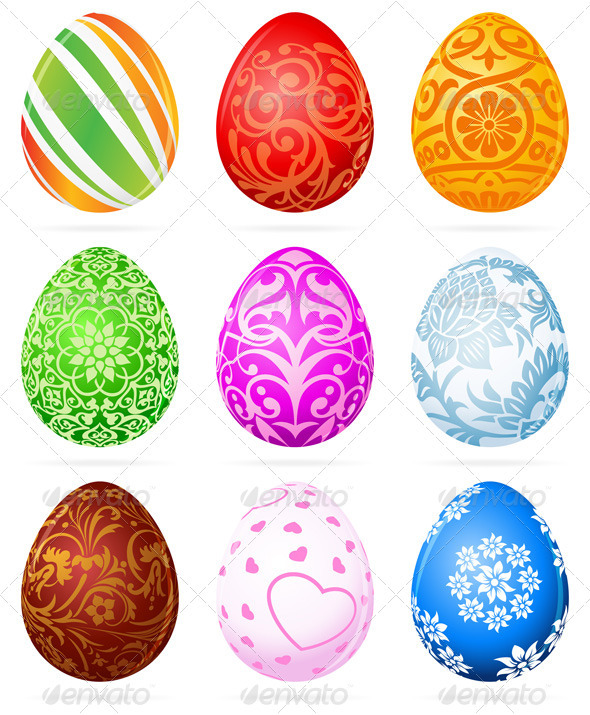 Easter Eggs Set - Seasons/Holidays Conceptual