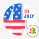 America day Icons - GraphicRiver Item for Sale