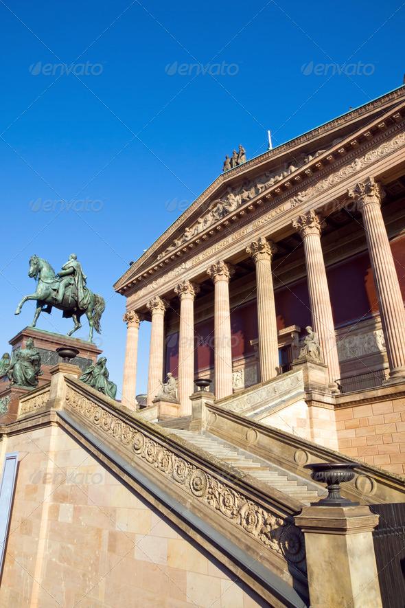 Berlin landmark Old Nationalgallery - Stock Photo - Images