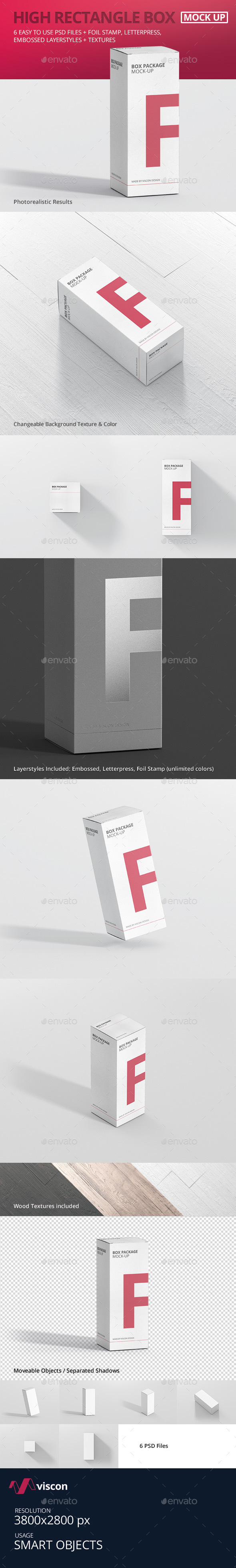 Package Box Mock-Up - High Rectangle - Miscellaneous Packaging