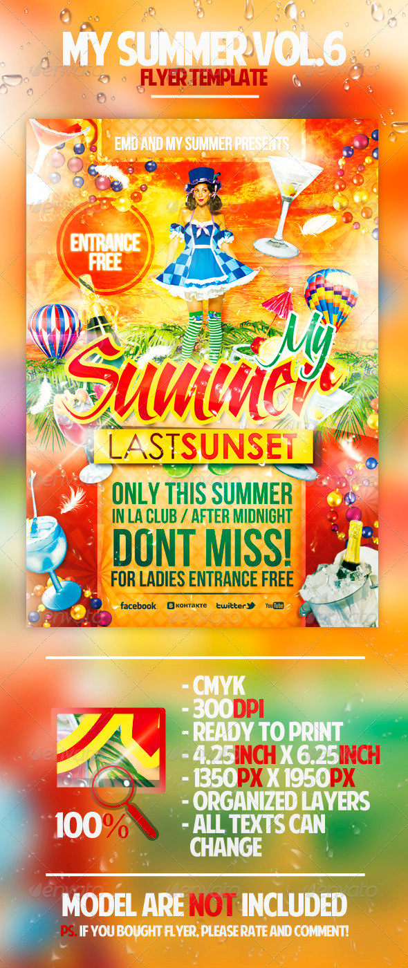 My Summer Vol.6 Flyer Template - Clubs & Parties Events