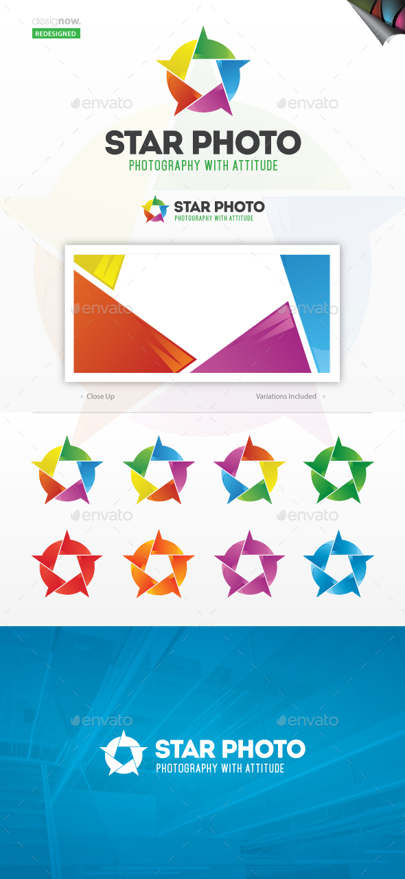 Star Photo Logo  - Abstract Logo Templates