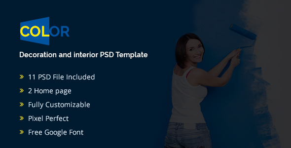 Color – Decoration and Interior PSD Template