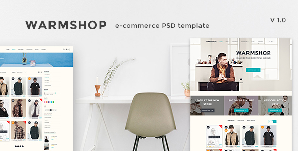 Warmshop - Minimal eCommerce PSD Template - Fashion Retail