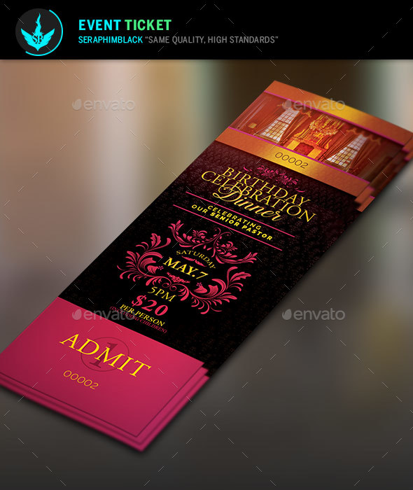Birthday Celebration Dinner Ticket Template   Miscellaneous Print Templates  Dinner Ticket Template