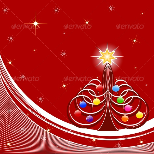 vector illustration of Christmas Tree - New Year Seasons/Holidays