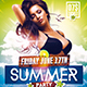 Summer Party Psd Flyer Template - GraphicRiver Item for Sale