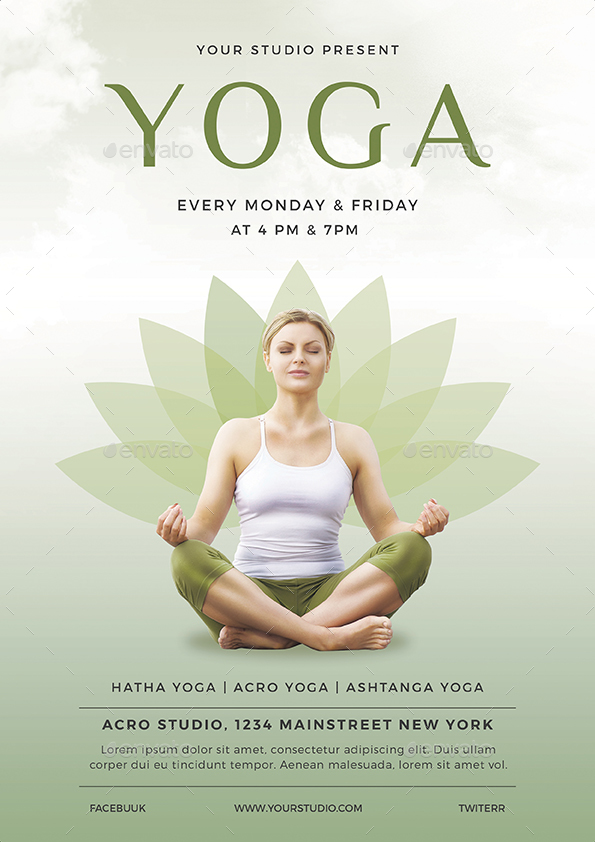 Yoga Flyer By Vynetta  Graphicriver