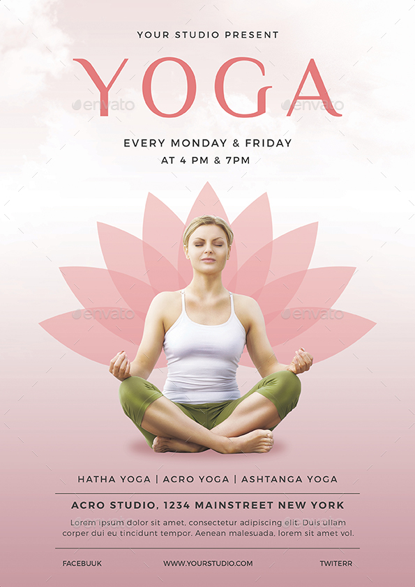 Yoga Flyer By Vynetta | Graphicriver