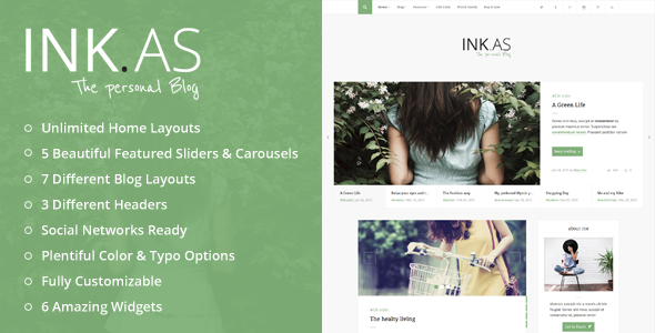 Inkas - The Personal Blog WP Theme