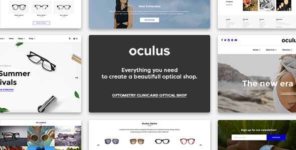 Oculus - Optical Business Theme