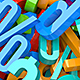 Plastic Numbers - GraphicRiver Item for Sale