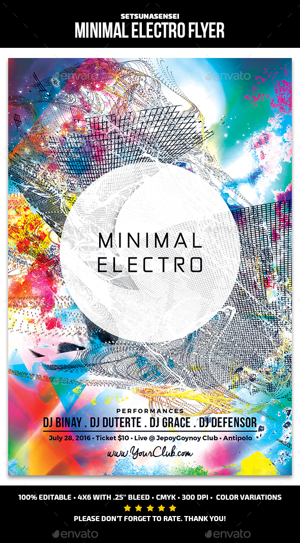 Minimal Electro Flyer by SetsunaSensei | GraphicRiver