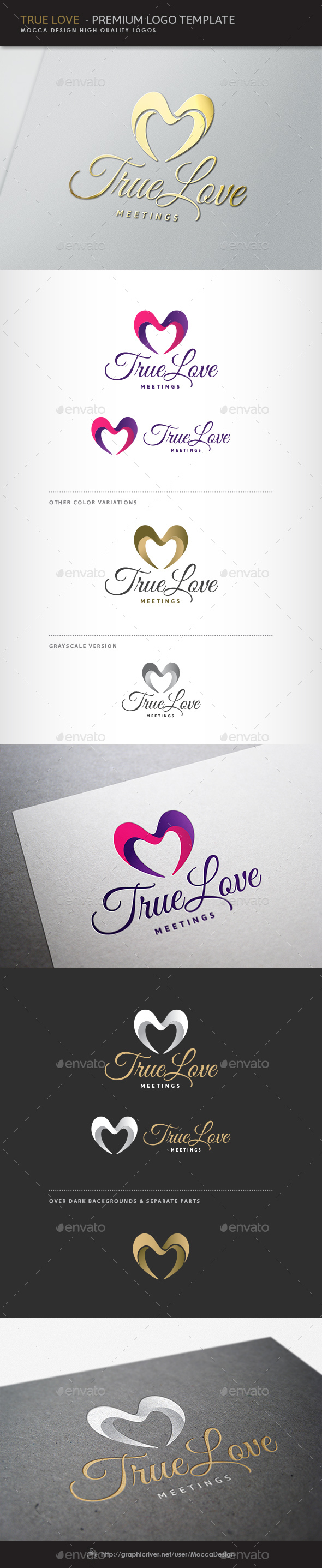 True Love Logo - Symbols Logo Templates
