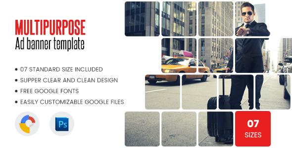 Multi Purpose Banners HTML5 D2 - Google Web Designer - CodeCanyon Item for Sale