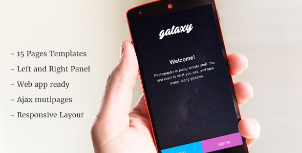 Galaxy – Mobile Template