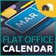 Flat Office Calendar - GraphicRiver Item for Sale