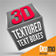 3D Textured Text Boxes - VideoHive Item for Sale
