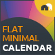 Flat Minimal Calendar - GraphicRiver Item for Sale