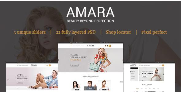 AMARA – eCommerce PSD Template