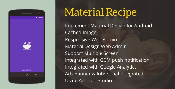 Material Recipe 4.1 - CodeCanyon Item for Sale