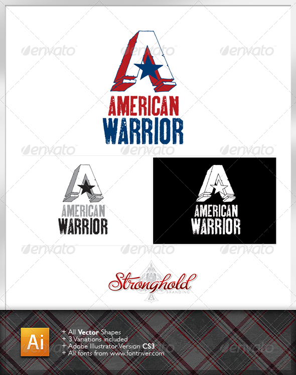 American Warrior Logo Template - Letters Logo Templates
