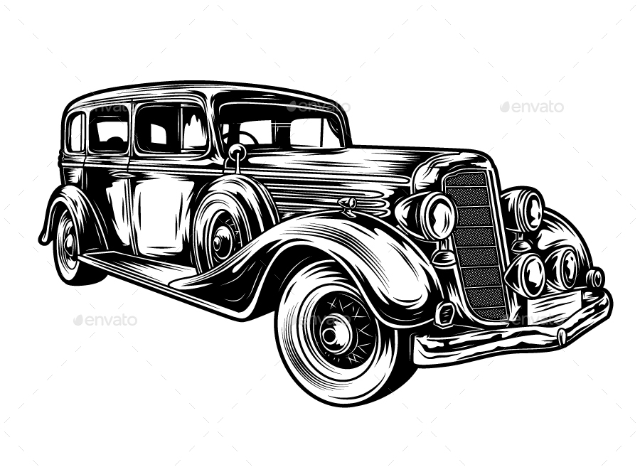 classic cars vector by sapi90 graphicriver rh graphicriver net vintage car vector free download antique car vector art