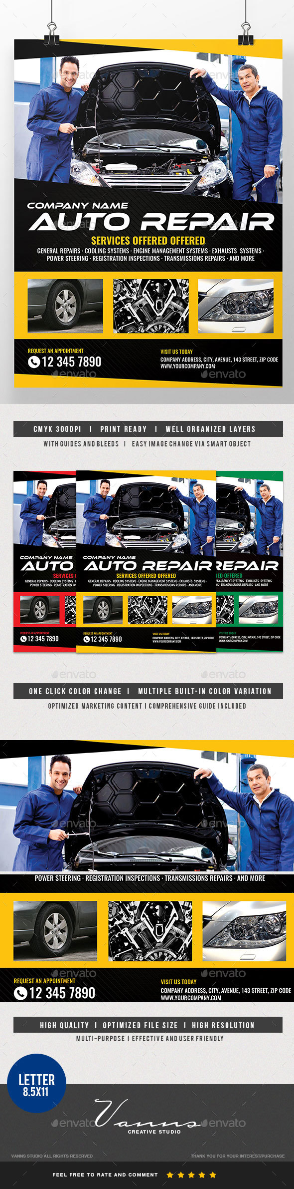 car repair graphics designs templates from graphicriver