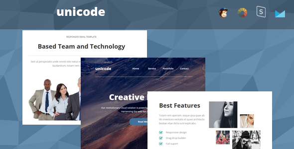 Unicode - Responsive Email + StampReady Builder - Newsletters Email Templates