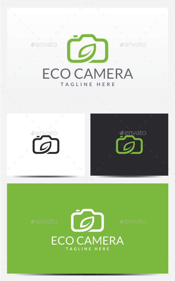 Eco Camera Logo - Objects Logo Templates