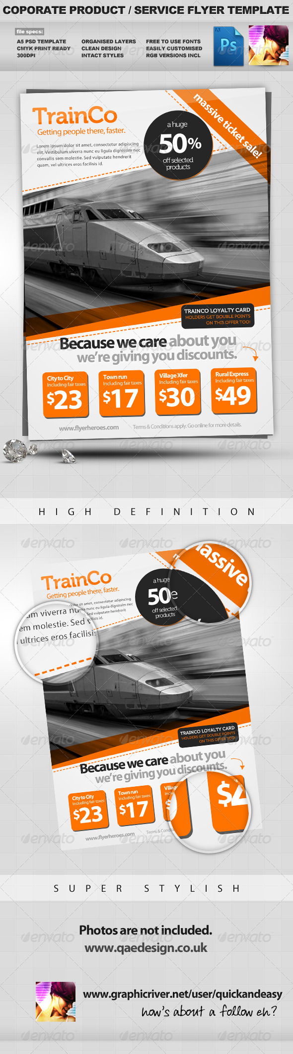 Corporate Product / Service PSD Flyer Template - Corporate Flyers