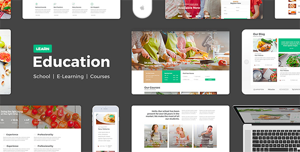 Education - Education Learning Theme For Education Courses School HTML - Corporate Site Templates