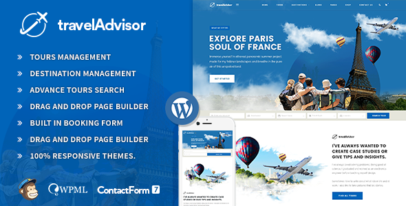 Travel Advisor | Responsive Travel | Trip WordPress Theme