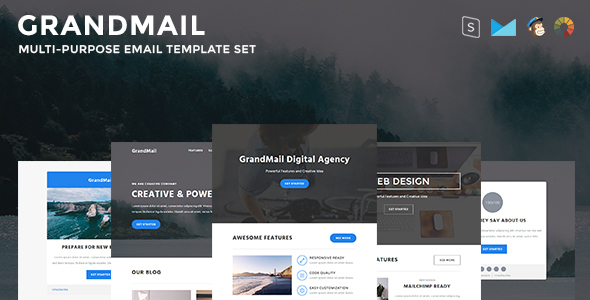 GrandMail - Responsive Email Set - Newsletters Email Templates