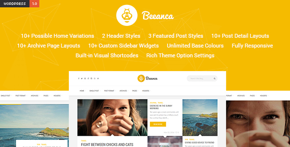 Beeanca – Modern Blogging Theme