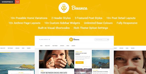 Beeanca - Modern Blogging Theme