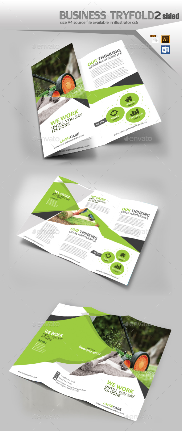 Garden Lawn Care Trifold Brochure By Designcrew