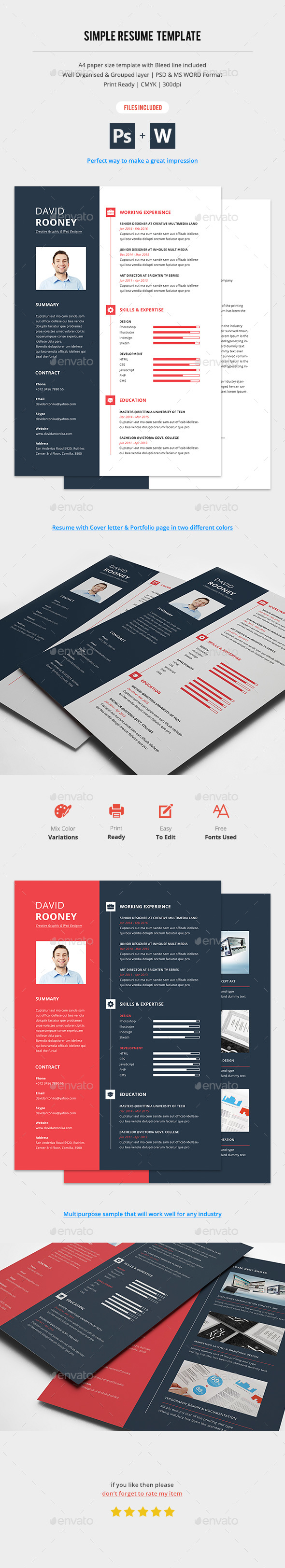 Resume with Portfolio & Cover Letter - Resumes Stationery