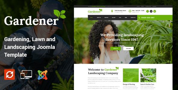 Gardener – Gardening, Lawn and Landscaping Joomla Theme