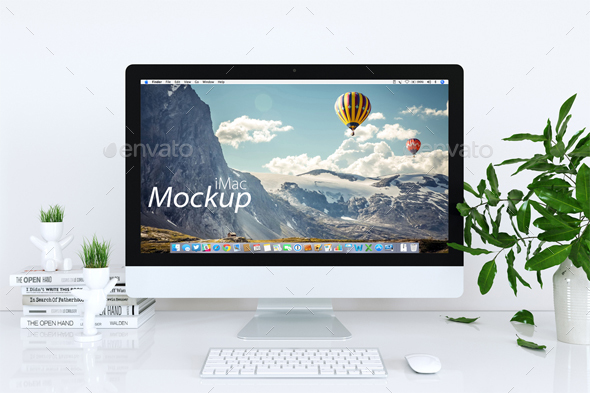 Mock-up Mac in White by Feverik | GraphicRiver