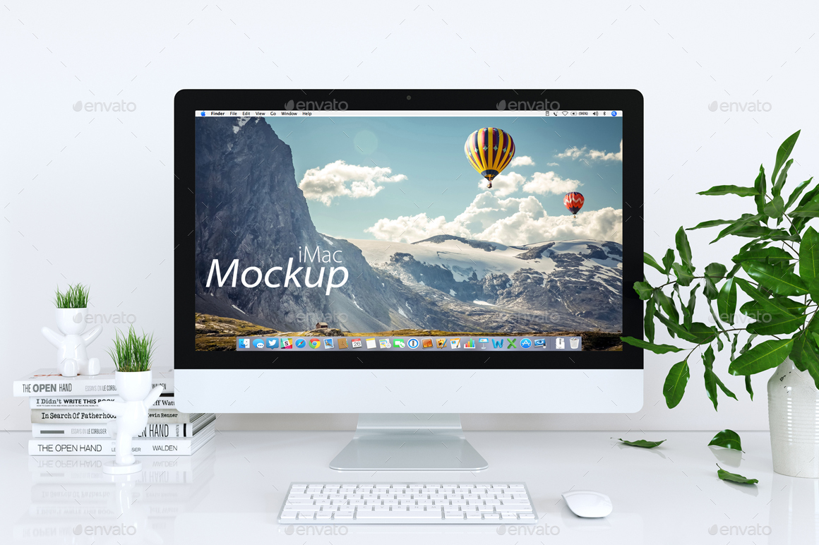 Mock Up Mac In White By Feverik Graphicriver