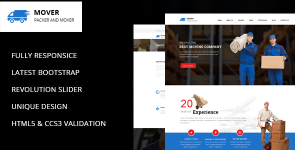 Movers - Company HTML Template - Business Corporate