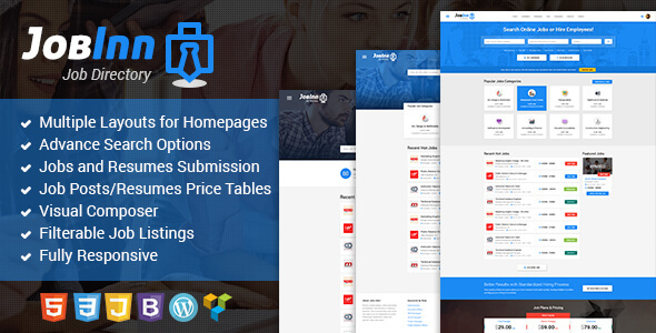 JobInn - Job Board & Directory WordPress Theme - Directory & Listings Corporate