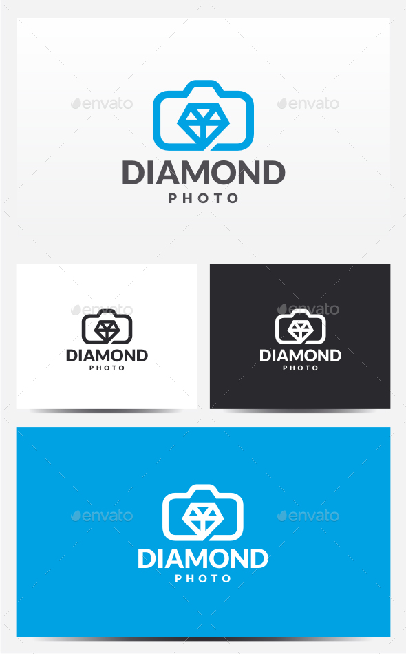 Diamond Photo Logo - Objects Logo Templates