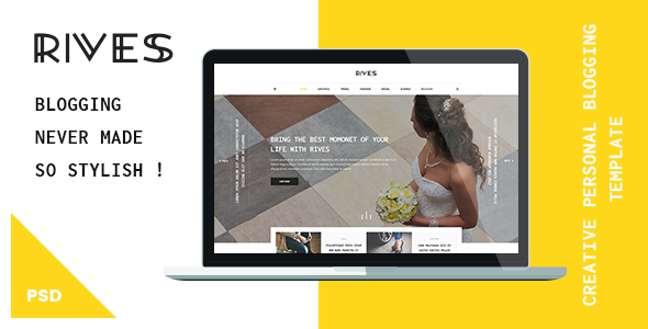 Rives - Creative personal Blogging Psd Template - Creative PSD Templates