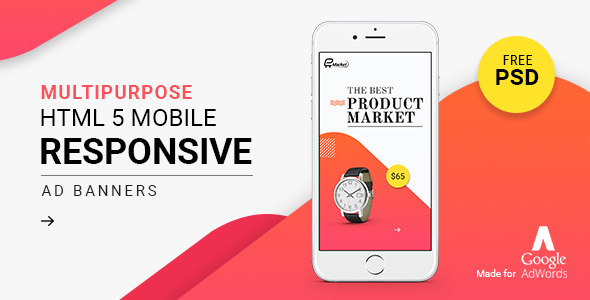 GWD | Responsive Mobile Ad Banner 02 - CodeCanyon Item for Sale